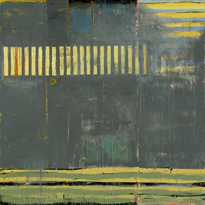 Judy Campbell, Kiowa, acrylic and mixed media on canvas, 60x60, $7200, THUMBNAIL