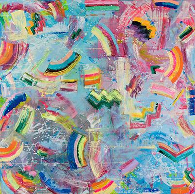 "Inland Sea oil, acrylic on canvas 60"" x 60"""